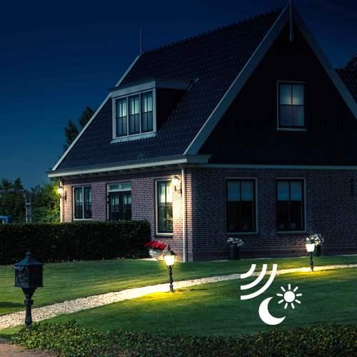 Beveiligen van huis en tuin met buitenverlichting met een sensor nostalux.nl