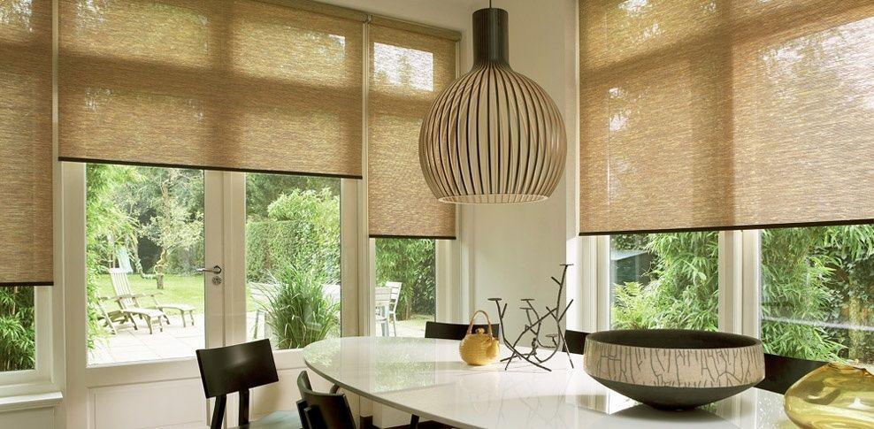 Inspiratie voor zonwering in de woonkamer #zonwering #rolgordijnen #blinds