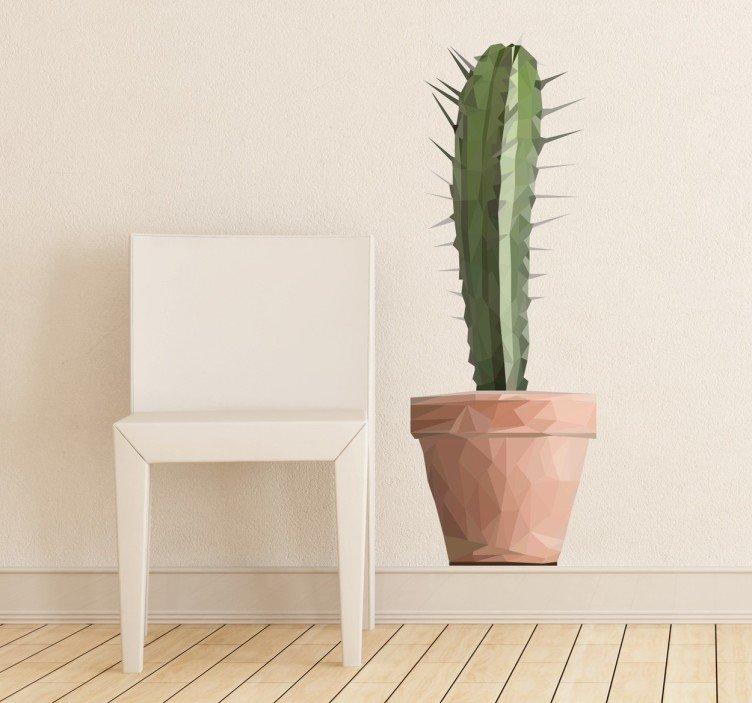 Interieurinspiratie: muurstickers in verschillende stijlen #muurstickers #interieur #cactus