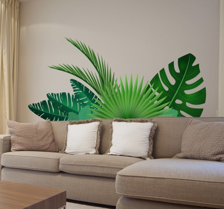 Interieurinspiratie: muurstickers in verschillende stijlen #muurstickers #interieur #groen #natuur