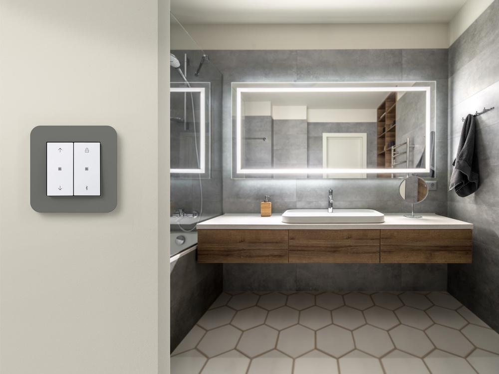 Schakelmateriaal verlichting badkamer - Gira
