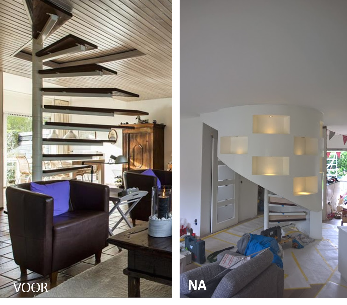 Kast rondom trap in woonkamer blog startpagina voor tuin idee n uw - Midden kamer trap ...