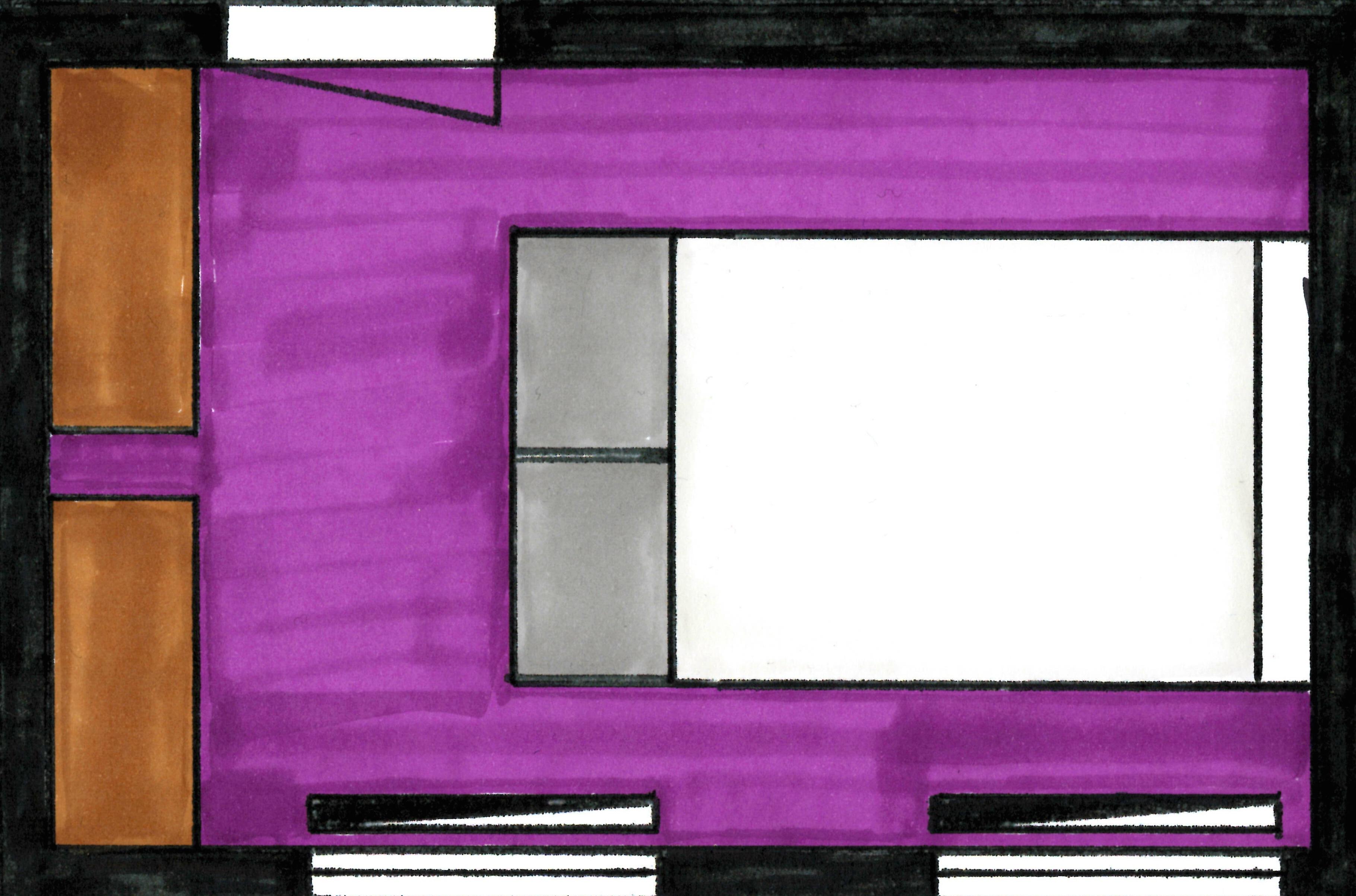 Project slaapkamerruil Styling ID - 2D meubelplan