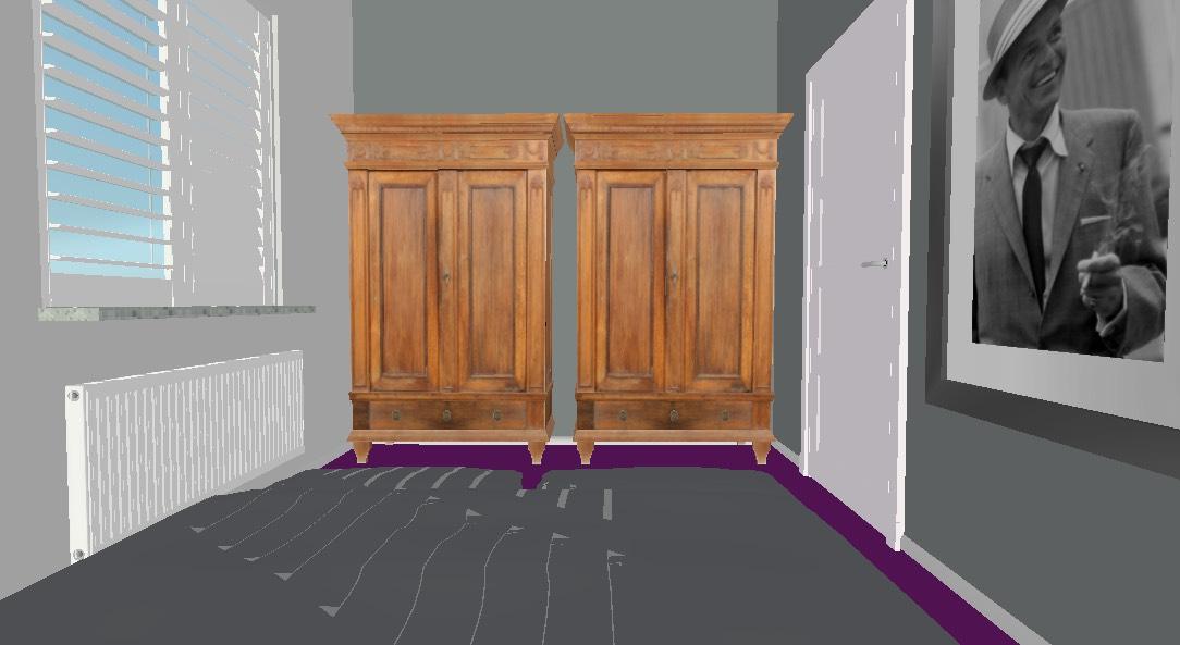 Project slaapkamerruil Styling ID -3D plan kasten