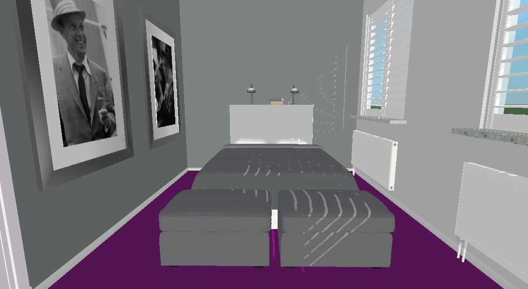 Project slaapkamerruil Styling ID - 3D plan bed
