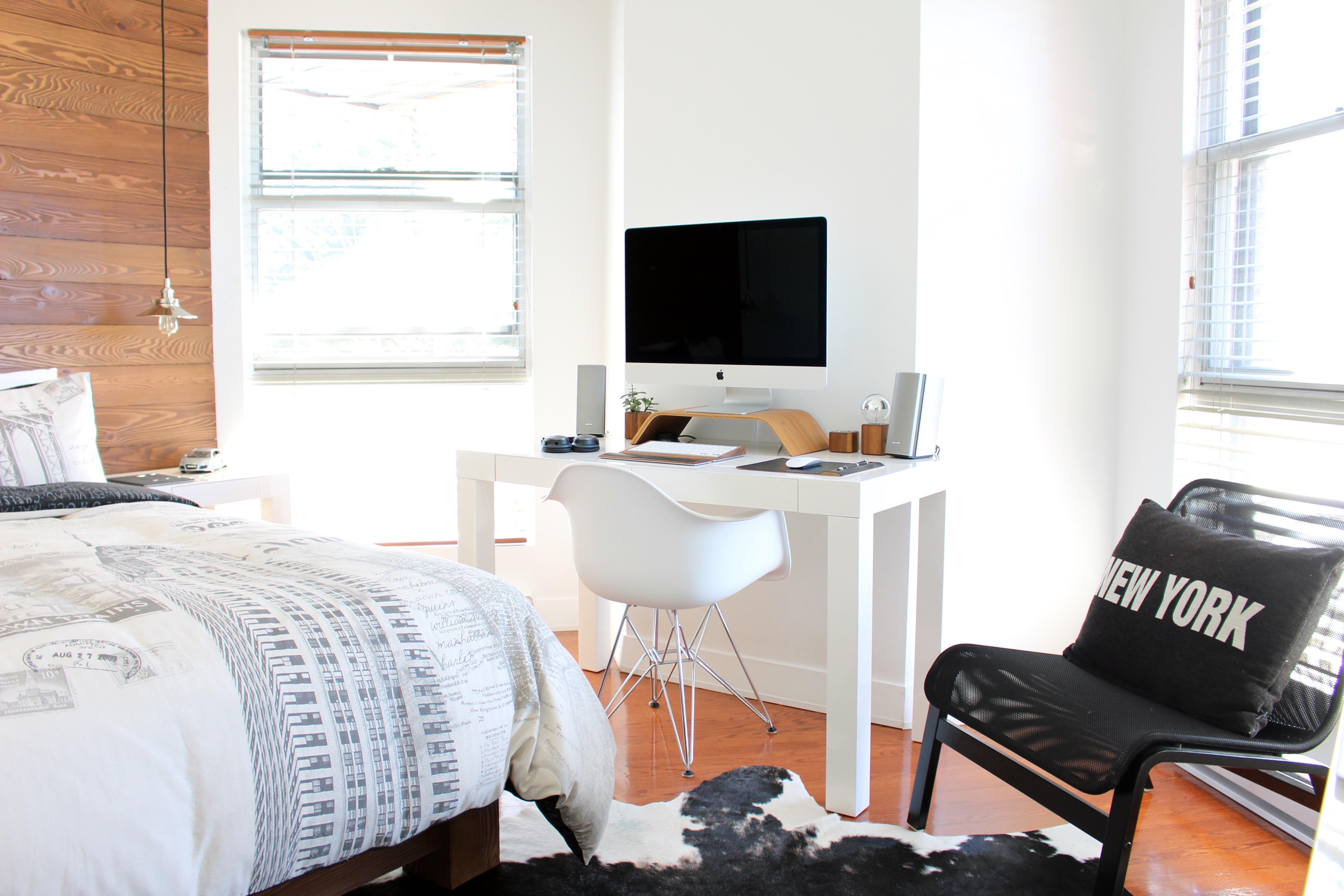 UW-woonmagazine blog Tips om een kleine kamer te stylen werkplek door Styling ID