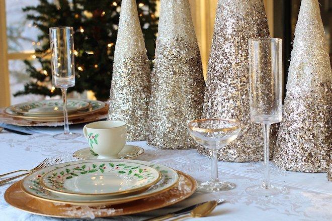 Kerst met een vleugje goud tafel