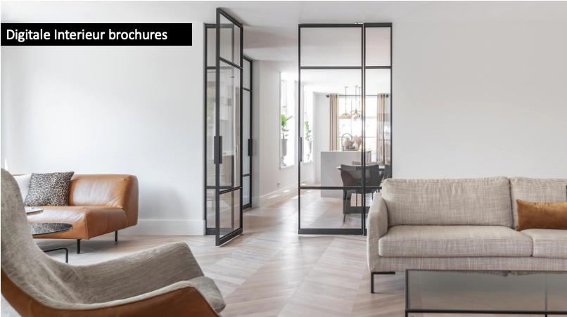 Interieur brochures digitaal. Vraag inspirerende brochures aan met woonideeen, informatie en inspiratie #stalendeuren #interieur #wandbekleding #meubels