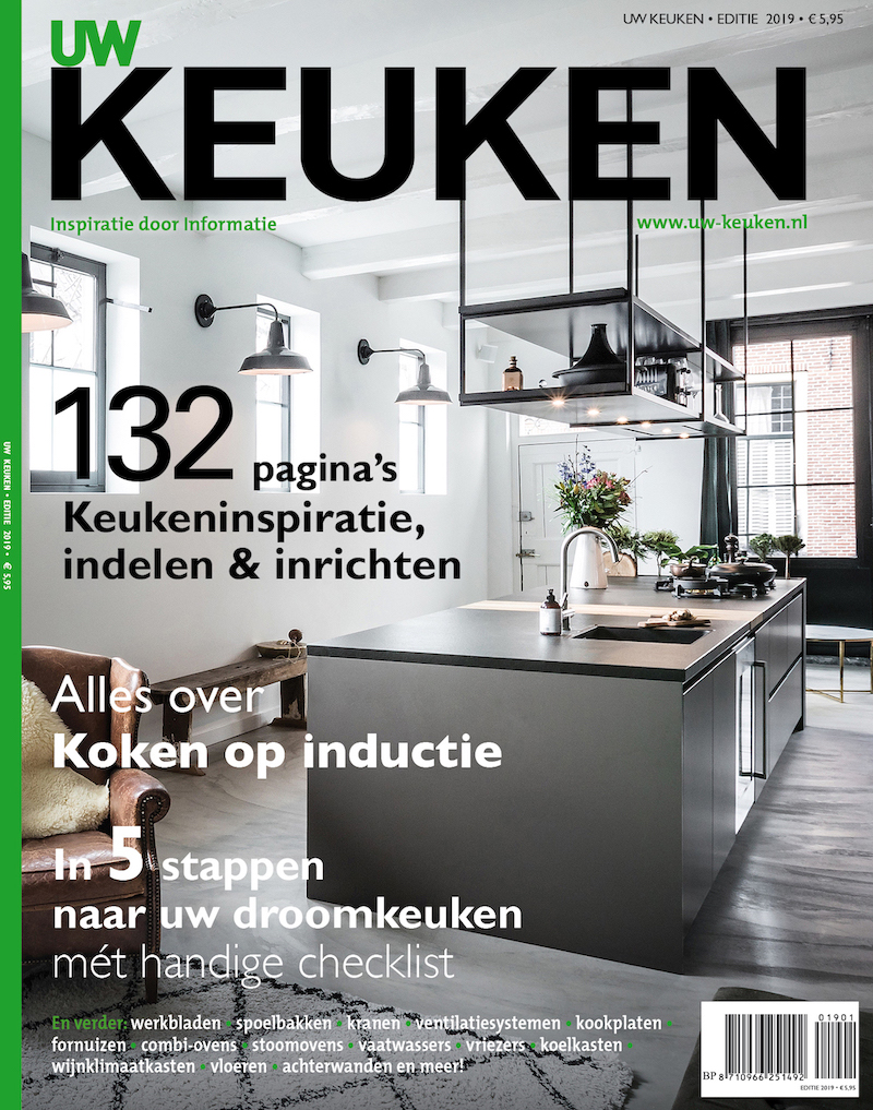 Keuken inspiratie 2019 in het informatieve en inspirerende keuken magazine UW Keuken 2019. Bestel het magazine online #keuken #magazine #inspiratie #keukentrends