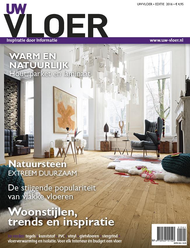 Op zoek naar een nieuwe vloer? De laatste vloerentrends en informatie vind je in het nieuwe UW Vloer Magazine 2016