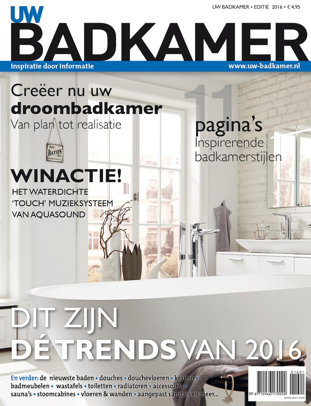 Bestel het glossy UW-Badkamer magazine 2016 met alle informatie en inspiratie voor je nieuwe badkamer