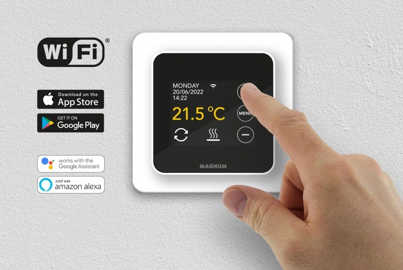 Slimme thermostaat elektrische vloerverwarming Magnum #thermostaat #verwarming #vloerverwarming #magnum #magnumheating