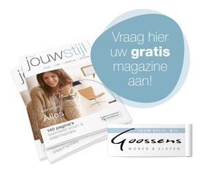 Vraag gratis interieurmagazine Jouwstijl van Goossens aan