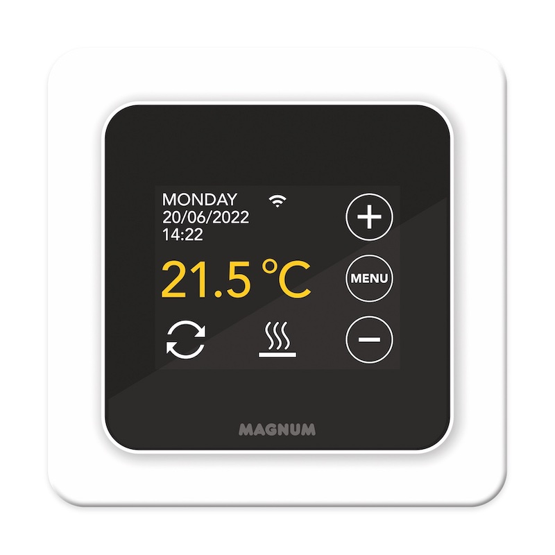 Magnum thermostaat #elekrtischevloerverwarming #magnum #vloerverwarmingbadkamer