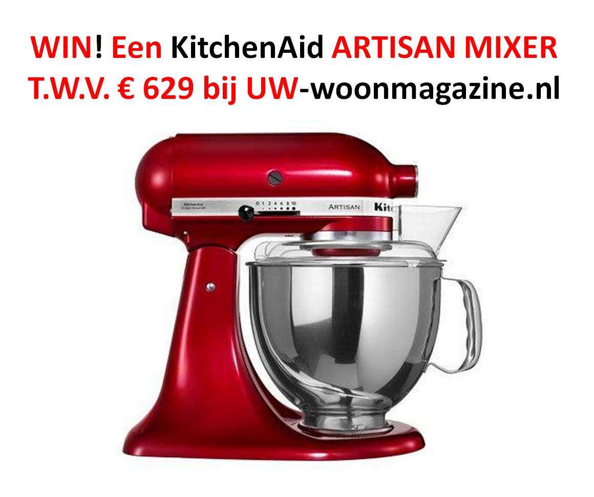 Win een KitchenAid Artisan mixer in kleur naar keuze bij uw-woonmagazine.nl! #kitchenaid #winactie #uwwoonmagazine