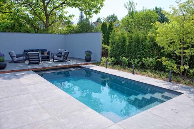 UW-zwembad voor de kleine tuin cerdic compass pools
