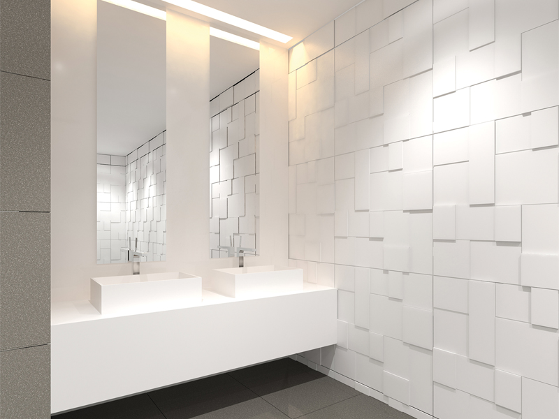 Badkamertegels wit - Tegels badkamer vloer wit zwemwater ...