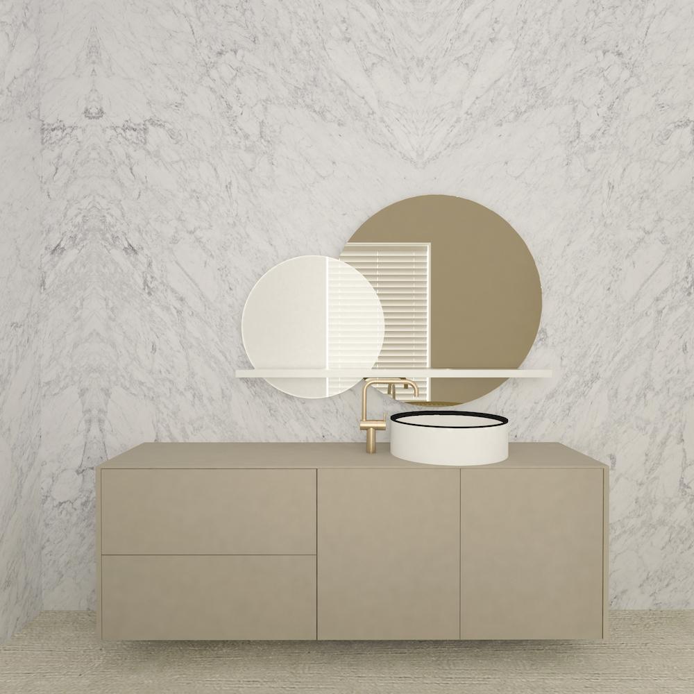 Marike design voor de badkamer. Badmeubel Moment #marike #badkamer #badkamerdesign #badkamermeubel #design