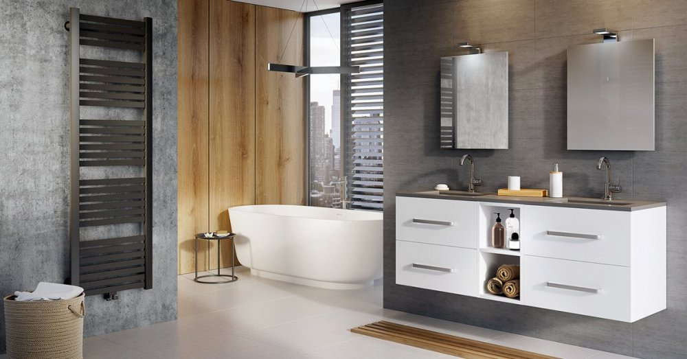 Complete badkamer via MijnBad #badkamer #indelen #badkamerinspiratie