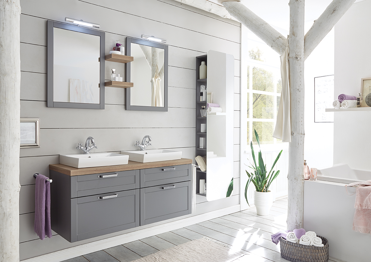 Zo deel je handig je neiuwe badkamer in. Badmeubel van Pelipal #badkamer #badkamerinspiratie