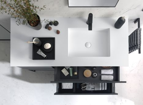 x2o badkamer design zwart wit #badkamer #badkamerinspiratie #badkamerstijl #design #x2o