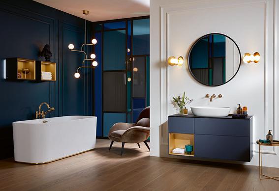 Villeroy Boch badkamertrends. #badkamertrends #kleur #blauw