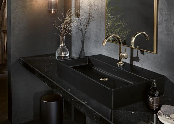 Villeroy Boch badkamertrends. #badkamertrends #zwart