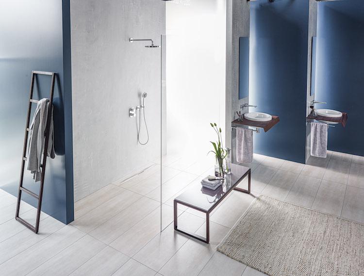 Inloopdouche met Aco showerdrain S+ design douchegoot #badkamer #inloopdouche #douchegoot #showerdrain #aco