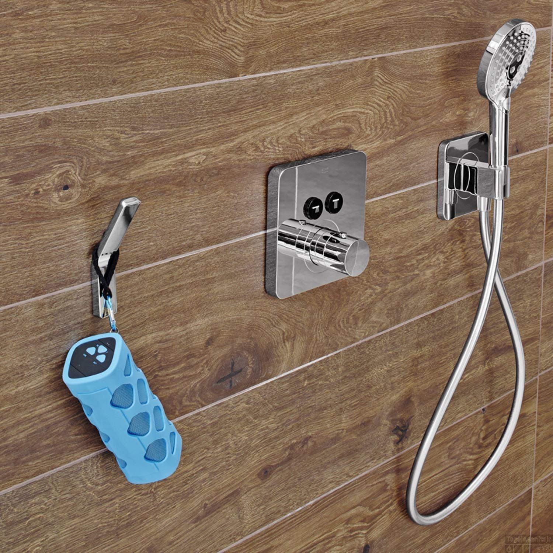 Douchen met muziek! Bluetooth speaker voor de badkamer van Aquasound #badkamer #muziek #waterproof