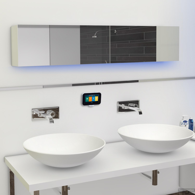 Waterdichte muzieksystemen voor de badkamer. N-Joy van Aquasound #muziek #badkamer