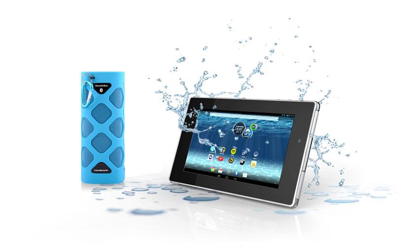 Badkamer gadget  waterdichte tablet van Aquasound   Nieuws Startpagina voor badkamer idee u00ebn   UW