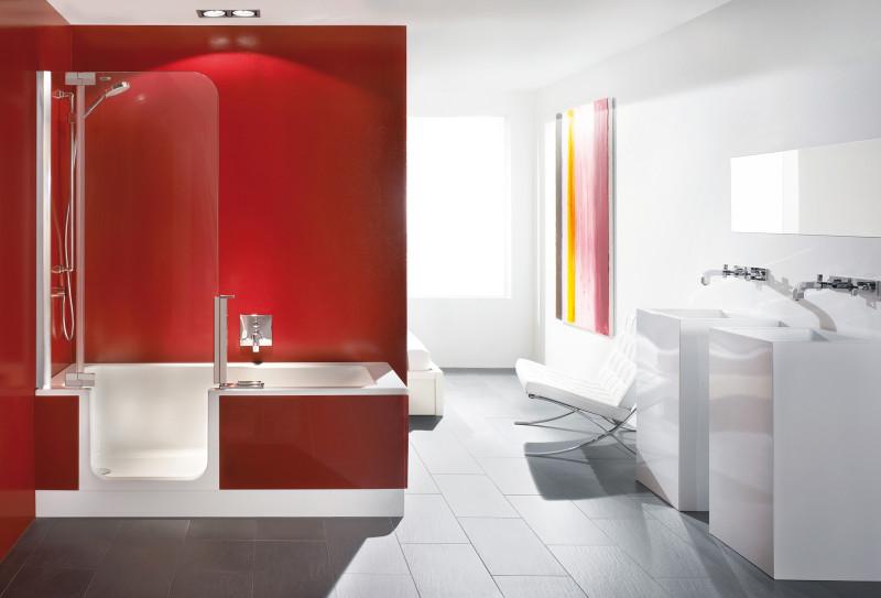 Instapbad met douche - Twinline 2 van Artweger
