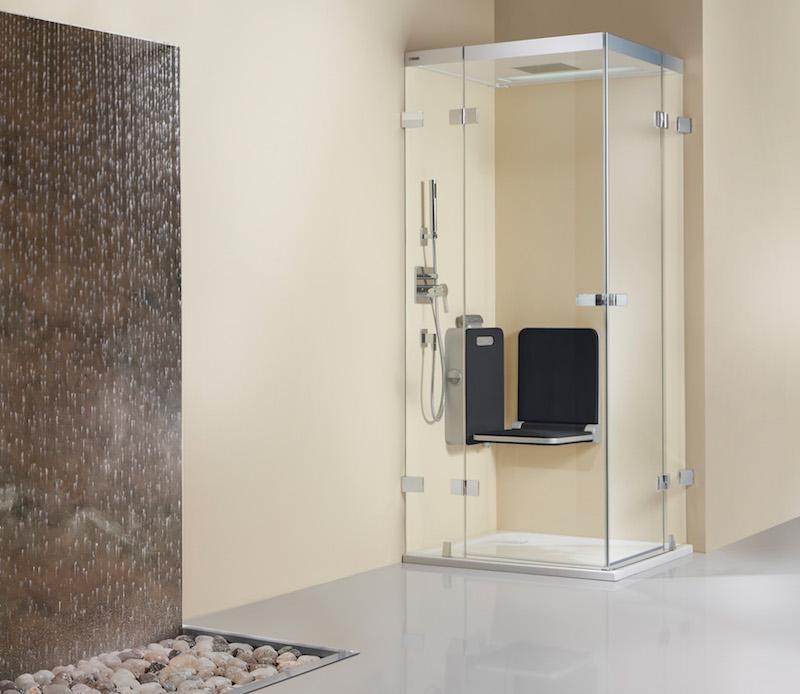 Artclear Glas van Artweger voor douchedeuren en wanden. Stoot water af en vuil krijgt geen kans. #artclear #artweger #douchedeur #douchewand