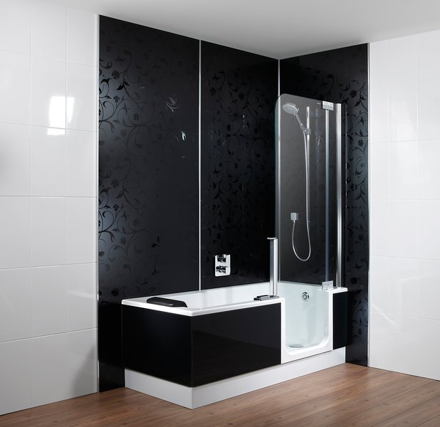 Douche en ligbad in n van artweger nieuws startpagina voor badkamer idee n uw - Model badkamer met douche ...