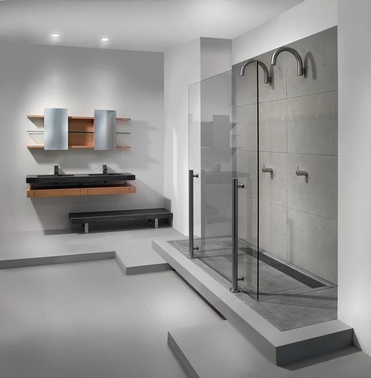Een ruime badkamer met design inloopdouches van balance nieuws startpagina voor badkamer - Moderne badkamer met italiaanse douche ...