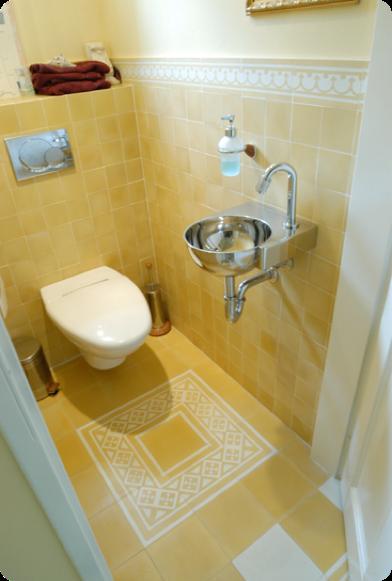 Wand en vloertegels toilet van Castelo de Portugal