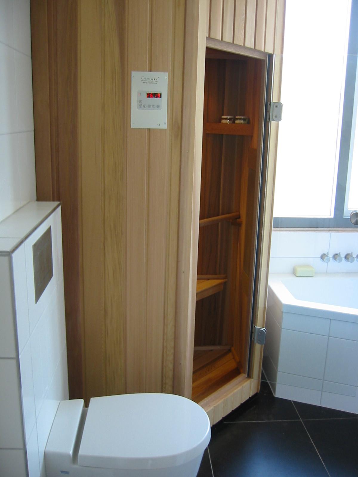 kleine badkamer sauna fuck for