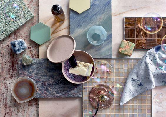Styling trends voor de badkamer Shimmer via Cleopatra