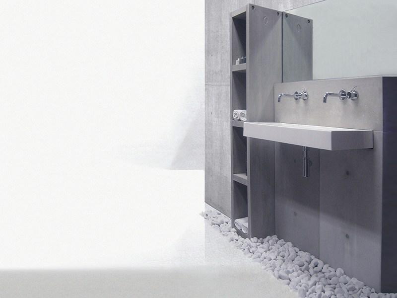 Design betonwanden voor badkamers nieuws startpagina voor badkamer idee n uw - Badkamer met wastafel ...