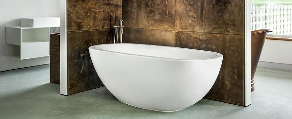 Vrijstaand bad Loeffi van Solid Surface - CrossTone #badkamer