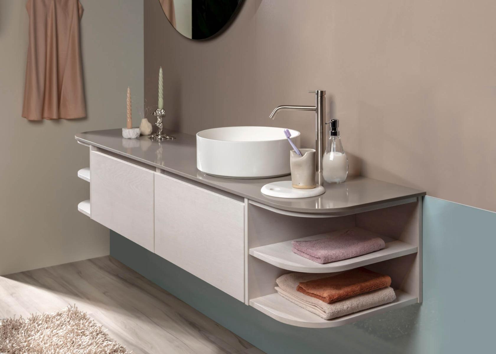 Badkamer trends 2021. Inspiratie voor de badkamer. Qisani via Dekker Zevenhuizen #badkamer #badkamertrends #badkamerinspiratie #verbouwen #dekkerzevenhuizen #badkamermeubel #qisani