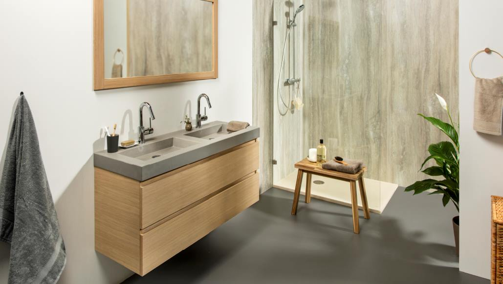 Ristyling badkamer natuur hout risofu