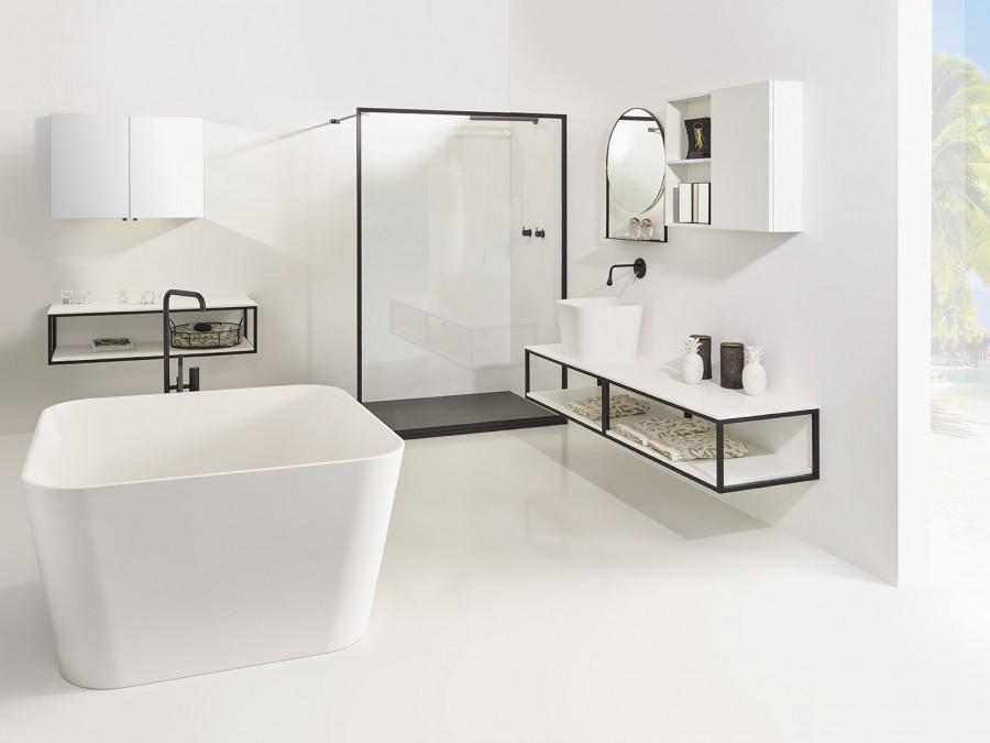 Badkamerinspiratie. Stel zelf je badkamer samen volgens de laatste badkamertrends met de no limit collectie van Detremmerie #detremmerie #badkamer #badkamertrends #badkamerinspiratie
