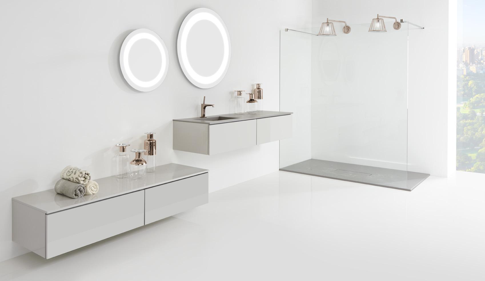 Stijlvol douchebakken met steen structuur steen look nieuws startpagina voor badkamer - Badkamer minerale ...