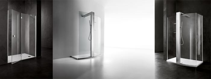 Glazen douchewanden en deuren uit de Relax serie van Luca Sanitair