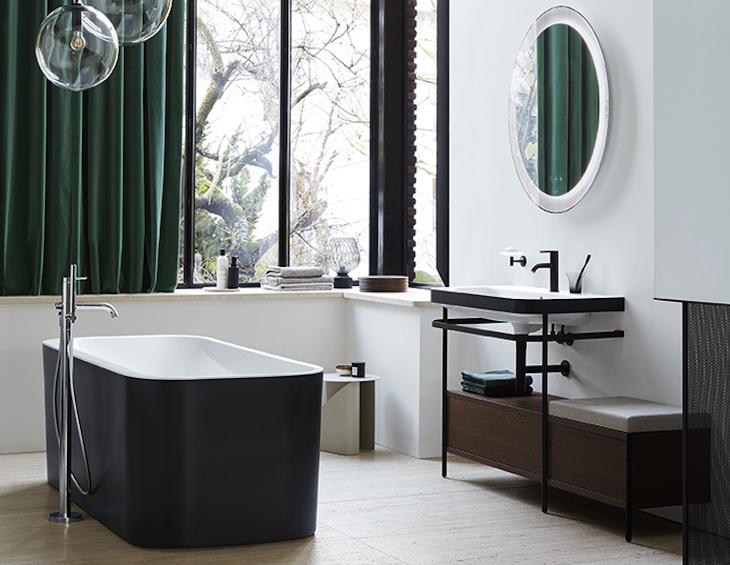 Zo geef je de badkamer een gezellige woonsfeer. Duravit badkamer Happy D.2 plus #badkamer #badkamerinspiratie #duravit