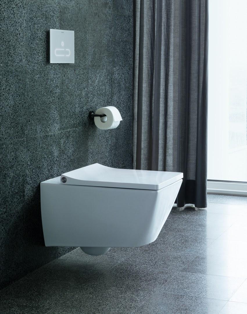 Toilet met geurafzuiging. Duravit met DuraSystem. Toilet Via #toilet #badkamer #duravit