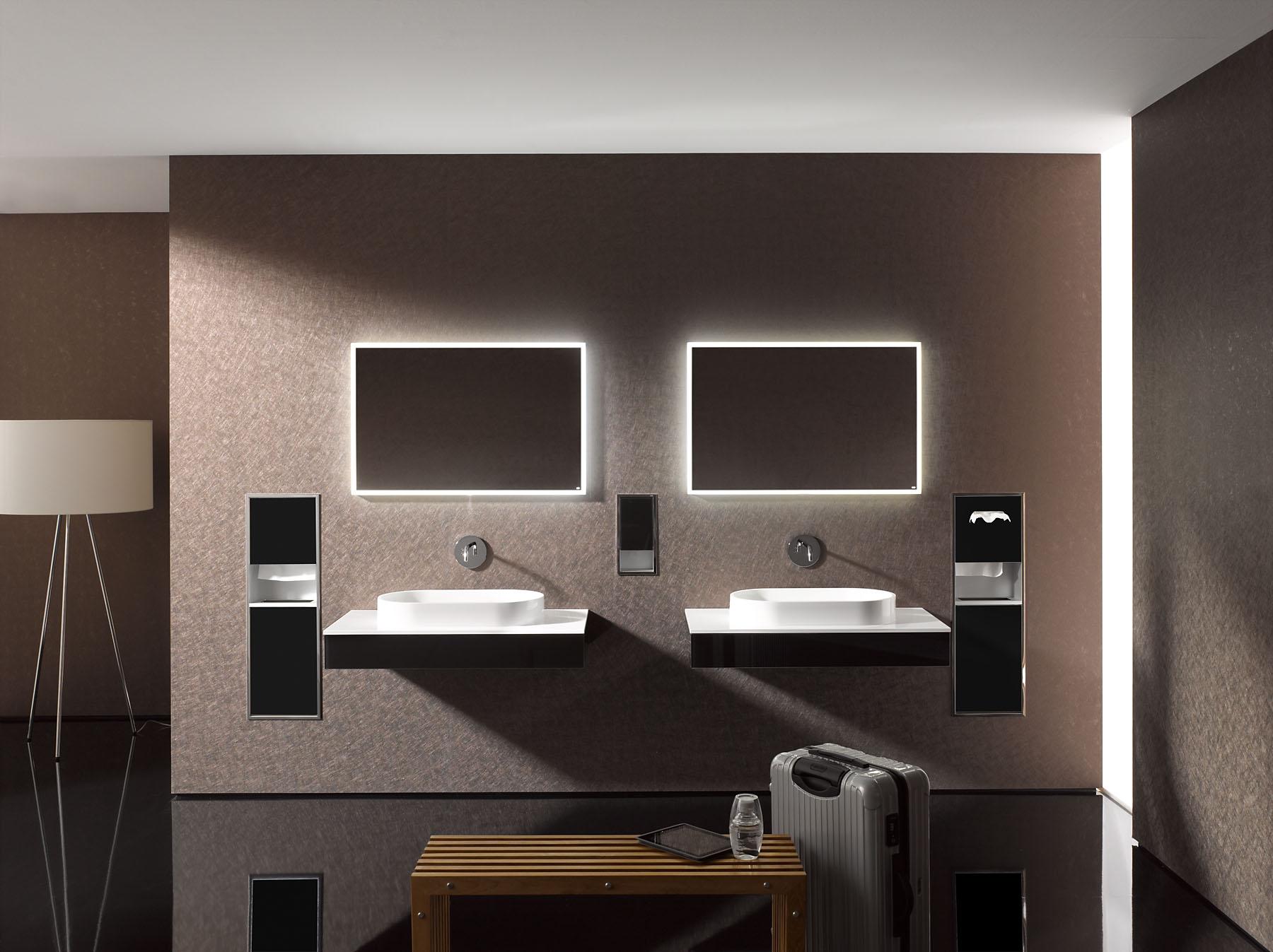 Emco luxe lichtspiegelkast met led verlichte kaderrand for Led verlichting spiegelkast badkamer