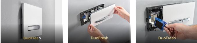 Geberit Duofresh. Frisse geur uit de bedieningsplaat #toilet