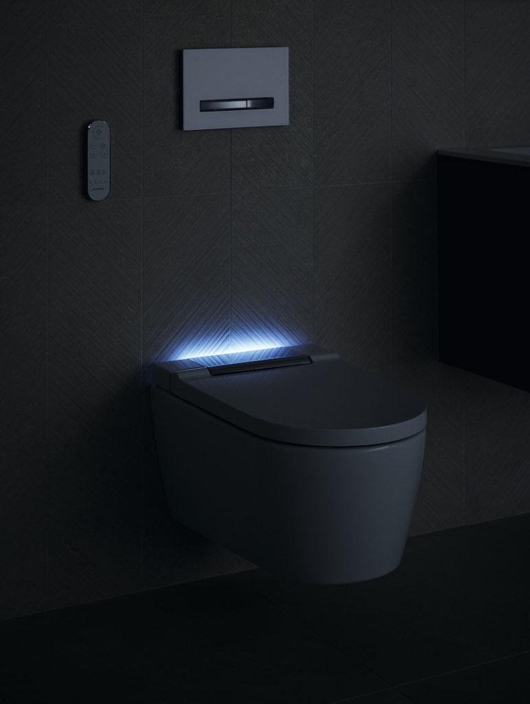 Geberit Aquaclean Sela toilet 2019 met (nacht) verlichting